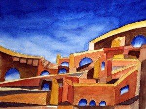 Peinture : Cité radieuse